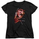 A Nightmare on Elm Street Freddy's Face Women's T-Shirt Black