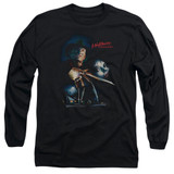 A Nightmare on Elm Street Elm Street Poster Adult Long Sleeve T-Shirt Black