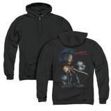 A Nightmare on Elm Street Elm Street Poster (Back Print) Adult Zipper Hoodie Sweatshirt Black