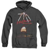 A Nightmare on Elm Street Alternate Poster Adult Heather Hoodie Sweatshirt Black