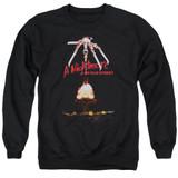 A Nightmare on Elm Street Alternate Poster Adult Crewneck Sweatshirt Black