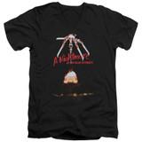 A Nightmare on Elm Street Alternate Poster Adult V-Neck T-Shirt Black