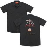 A Nightmare on Elm Street Alternate Poster (Back Print) Adult Work Shirt Black