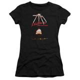 A Nightmare on Elm Street Alternate Poster Junior Women's Sheer T-Shirt Black