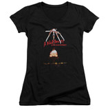 A Nightmare on Elm Street Alternate Poster Junior Women's V-Neck T-Shirt Black