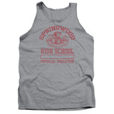 A Nightmare on Elm Street Springwood High Adult Tank Top T-Shirt Athletic Heather