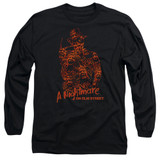 A Nightmare on Elm Street Chest Of Souls Adult Long Sleeve T-Shirt Black