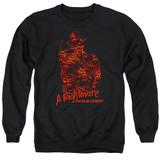 A Nightmare on Elm Street Chest Of Souls Adult Crewneck Sweatshirt Black