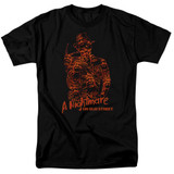 A Nightmare on Elm Street Chest Of Souls Adult 18/1 T-Shirt Black