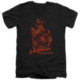 A Nightmare on Elm Street Chest Of Souls Adult V-Neck T-Shirt Black