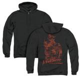 A Nightmare on Elm Street Chest Of Souls (Back Print) Adult Zipper Hoodie Sweatshirt Black