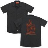 A Nightmare on Elm Street Chest Of Souls (Back Print) Adult Work Shirt Black