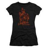 A Nightmare on Elm Street Chest Of Souls Junior Women's Sheer T-Shirt Black