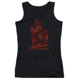 A Nightmare on Elm Street Chest Of Souls Junior Women's Tank Top T-Shirt Black
