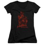 A Nightmare on Elm Street Chest Of Souls Junior Women's V-Neck T-Shirt Black