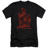 A Nightmare on Elm Street Chest Of Souls Adult 30/1 T-Shirt Black