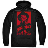 A Nightmare on Elm Street Never Sleep Again Adult Pullover Hoodie Sweatshirt Black