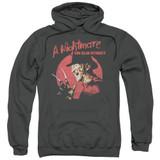 A Nightmare on Elm Street Freddy Circle Adult Pullover Hoodie Sweatshirt Charcoal
