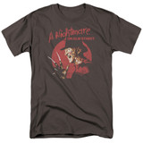 A Nightmare on Elm Street Freddy Circle Adult 18/1 T-Shirt Charcoal