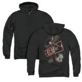 A Nightmare on Elm Street Elm St (Back Print) Adult Zipper Hoodie Sweatshirt Black