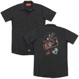 A Nightmare on Elm Street Elm St (Back Print) Adult Work Shirt Black