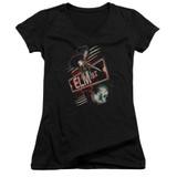 A Nightmare on Elm Street Elm St Junior Women's V-Neck T-Shirt Black