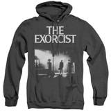 The Exorcist Poster Adult Heather Hoodie Sweatshirt Black