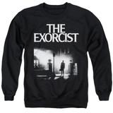 The Exorcist Poster Adult Crewneck Sweatshirt Black