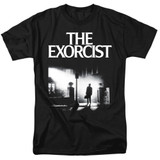 The Exorcist Poster Adult 18/1 T-Shirt Black