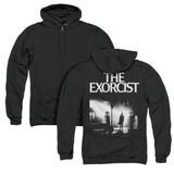 The Exorcist Poster (Back Print) Adult Zipper Hoodie Sweatshirt Black