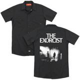 The Exorcist Poster (Back Print) Adult Work Shirt Black