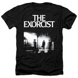 The Exorcist Poster Adult Heather T-Shirt Black