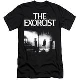 The Exorcist Poster Premium Adult 30/1 T-Shirt Black