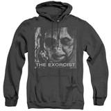 The Exorcist Regan Approach Adult Heather Hoodie Sweatshirt Black