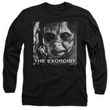 The Exorcist Regan Approach Adult Long Sleeve T-Shirt Black