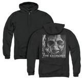 The Exorcist Regan Approach (Back Print) Adult Zipper Hoodie Sweatshirt Black