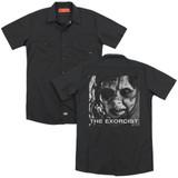 The Exorcist Regan Approach (Back Print) Adult Work Shirt Black