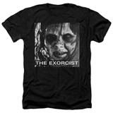 The Exorcist Regan Approach Adult Heather T-Shirt Black
