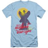 The Exorcist Pazuzu Adult 30/1 T-Shirt Light Blue