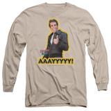 Happy Days Aaayyyyy Adult Long Sleeve T-Shirt Sand