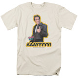 Happy Days Aaayyyyy Adult 18/1 T-Shirt Sand