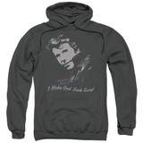 Happy Days Cool Fonz Adult Pullover Hoodie Sweatshirt Charcoal