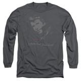 Happy Days Cool Fonz Adult Long Sleeve T-Shirt Charcoal