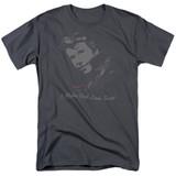 Happy Days Cool Fonz Adult 18/1 T-Shirt Charcoal
