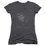 Happy Days Cool Fonz Junior Women's V-Neck T-Shirt Charcoal