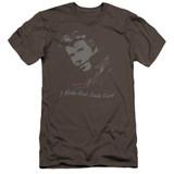 Happy Days Cool Fonz Premium Canvas Adult Slim Fit 30/1 T-Shirt Charcoal