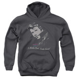 Happy Days Cool Fonz Youth Pullover Hoodie Sweatshirt Charcoal