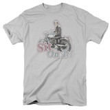 Happy Days Sit On It! Adult 18/1 T-Shirt Silver