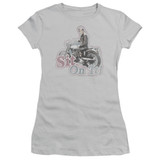 Happy Days Sit On It! Junior Women's T-Shirt Silver