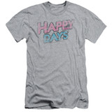 Happy Days Distressed Adult 30/1 T-Shirt Athletic Heather